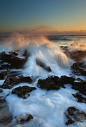 Atlantic Ocean Prints - Over the Rocks Print by Mike  Dawson