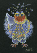 Hall Painting Prints - Owl Print by Olena Skytsiuk