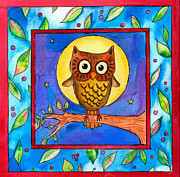 Corwin Paintings - Owl by Pamela  Corwin