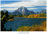 Landscape Prints Framed Prints - Oxbow Bend In Autumn Framed Print by Greg Norrell