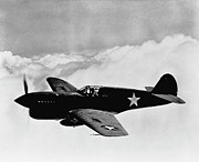 Ww2 Photo Prints - P-40 Warhawk Print by War Is Hell Store