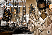 Rapper Mixed Media Framed Prints - P Diddy Framed Print by The DigArtisT