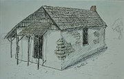 Adobe Mixed Media Prints - Pacheco Adobe Print by Bob Rowell