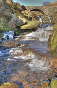 Packhorse Prints - Packhorse Bridge at Three Shires Head Print by David Birchall