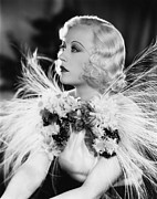 Ostrich Feathers Prints - Page Miss Glory, Marion Davies, 1935 Print by Everett