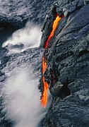Lava Flow Prints - Pahoehoe Lava Flow From Kilauea Volcano, Hawaii Print by G. Brad Lewis