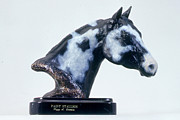Equine Sculpture Sculptures - Paint Horse Stallion by Peggy Detmers