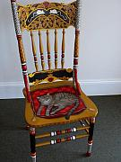 Andrea Ellwood - Painted Cat Chair