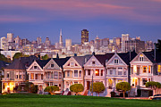 Alamo Square Framed Prints - Painted Ladies Framed Print by Brian Jannsen