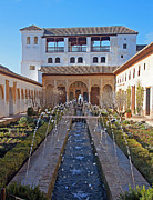 Alhambra De Granada Prints - Palace of the Generalife Print by Rod Jones
