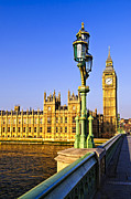 Landmarks Prints - Palace of Westminster from bridge Print by Elena Elisseeva