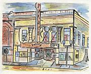 Building Painting Originals - Palace Theater by Matt Gaudian