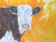 Cows Mixed Media - Pale Face by Debora Cardaci