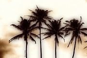 Tropical Prints Prints - Palm Abstract Print by Cheryl Young