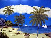 Tropical Artwork By Frederic Kohli - Palm Bay by Frederic Kohli