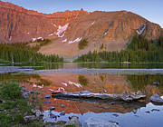 Mountain Art - Palmyra Peak Reflected In Alta Lake by Tim Fitzharris