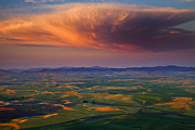 Eastern Washington Posters - Palouse Storm Poster by Mike  Dawson
