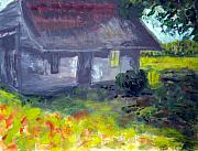 Shed Paintings - Pamlico County Shed by Rebecca Worters