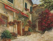 Creative Painting Framed Prints - Panini Cafe Framed Print by Chris Brandley