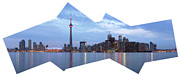 Sunset Pieces Posters - Panorama of the City of Toronto Poster by Oleksiy Maksymenko