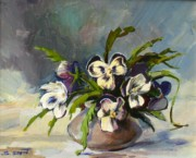 Armenian Paintings - Pansies by Tigran Ghulyan