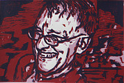 Linocut Metal Prints - Papa Metal Print by William Cauthern