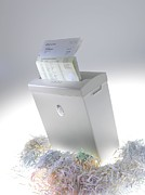 Shred Prints - Paper Shredder Print by Tek Image