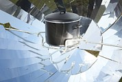 Green Power Framed Prints - Parabolic Solar Cooker Framed Print by Detlev Van Ravenswaay