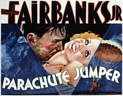 Jumper Photo Framed Prints - Parachute Jumper, Douglas Fairbanks Framed Print by Everett