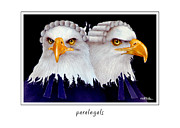 Eagle Paintings - Paralegals... by Will Bullas