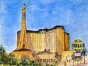 Paris Las Vegas Hotel And Casino Posters - Paris Hotel And Casino Poster by Vicki  Housel