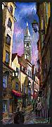 Paris Pastels Prints - Paris Montmartre  Print by Yuriy  Shevchuk