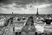 Black And White Paris Posters - Paris No. 1  Poster by Ryan Wyckoff