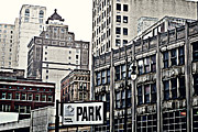 City Buildings Prints - Park Detroit Print by Alanna Pfeffer