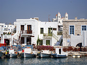 European Restaurant Metal Prints - Paros  Metal Print by Jane Rix