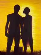 Couples Painting Prints - Partners Print by Garry McMichael