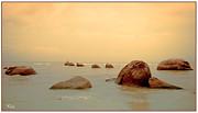 Pastel Rocks Print by Allan Rufus