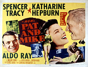Spencer Prints - Pat And Mike, Aldo Ray, Katharine Print by Everett