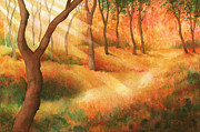 Forest Floor Painting Posters - Path of Light Poster by Greg Dolan