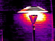 Cafe Terrace Art - Patio Heater, Thermogram by Tony Mcconnell