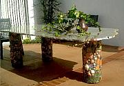 Table Ceramics - Patio table by Theodora Kurkchiev