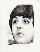 Mccartney Drawings Posters - Paul McCartney Poster by Rosalinda Markle