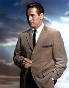 1950s Fashion Framed Prints - Paul Newman Framed Print by Everett