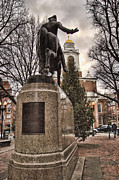 Faneuil Hall Prints - Paul Revere-Statue Print by Joann Vitali