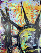 Memphis Artist Mixed Media - Peace and Liberty by Robert Wolverton Jr