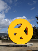 Museums Framed Prints - Peace From The Oakland Museum . Oakland California . 7D13411 Framed Print by Wingsdomain Art and Photography