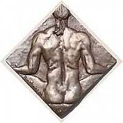 Male Nude Relief Reliefs - Peace by Kelly Borsheim