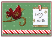 Holiday Card Digital Art Prints - Peace On Earth Print by Arline Wagner