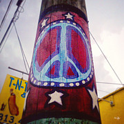 Hippie Prints - Peace Pole Print by Scott Pellegrin
