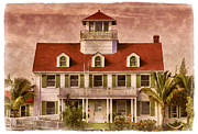 Clapboard House Framed Prints - Peanut Island Framed Print by Debra and Dave Vanderlaan